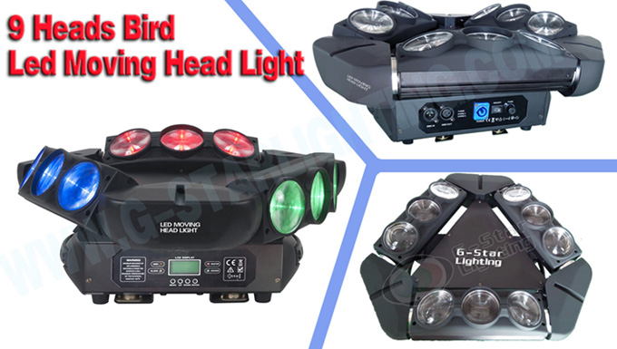 9 heads Bird Led Moving Head Lights