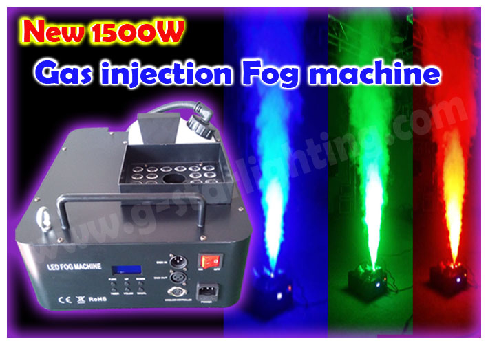 New Gas injection RGB Fog machine with DMX512